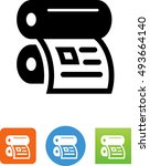 offset printer with document... | Shutterstock .eps vector #493664140