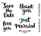 save the date  love you  just... | Shutterstock .eps vector #493665868