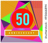 50th years greeting card... | Shutterstock .eps vector #493666894