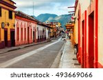 streets in the cultural capital ... | Shutterstock . vector #493669066