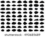 cloud vector icon set black... | Shutterstock .eps vector #493685689