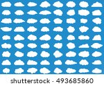 cloud vector icon set white... | Shutterstock .eps vector #493685860