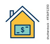 vector house price icon | Shutterstock .eps vector #493691350