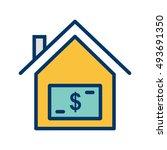 vector house price icon | Shutterstock .eps vector #493691350
