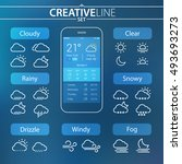 weather ui set for mobile and...