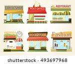 set of vector flat design... | Shutterstock .eps vector #493697968