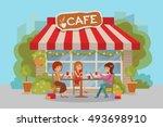 three beautiful friends women...   Shutterstock .eps vector #493698910