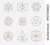 sacred geometry. sacred... | Shutterstock .eps vector #493700863