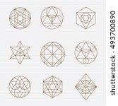 sacred geometry. sacred... | Shutterstock .eps vector #493700890