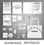 trendy white corporate identity ... | Shutterstock .eps vector #493706224