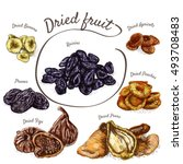 dried fruits colorful... | Shutterstock .eps vector #493708483