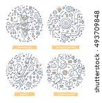 doodle vector illustrations of... | Shutterstock .eps vector #493709848