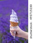 hand holding ice cream with... | Shutterstock . vector #493715230
