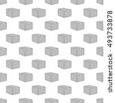 box seamless pattern on white... | Shutterstock . vector #493733878