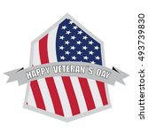 isolated american badge on a... | Shutterstock .eps vector #493739830