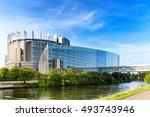 strasbourg  france august 01 ... | Shutterstock . vector #493743946