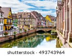 colmar  france august 03  2016. ... | Shutterstock . vector #493743964