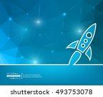 abstract creative concept... | Shutterstock .eps vector #493753078