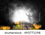 halloween design   forest... | Shutterstock . vector #493771198