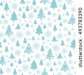 holiday pattern  christmas... | Shutterstock . vector #493783390