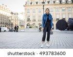 paris   october 5  2016 ... | Shutterstock . vector #493783600
