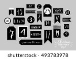 abstract black and white twenty ... | Shutterstock .eps vector #493783978