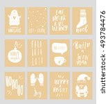 collection of stylish new year... | Shutterstock .eps vector #493784476