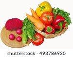 colorful vegetables in the... | Shutterstock . vector #493786930