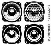set of vector templates for... | Shutterstock .eps vector #493813243
