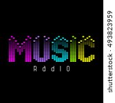 abstract logo for radio  music... | Shutterstock .eps vector #493823959