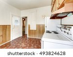 interior of old style kitchen... | Shutterstock . vector #493824628