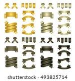 set of vector ribbons. vector... | Shutterstock .eps vector #493825714