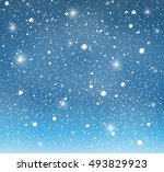 winter background with snow | Shutterstock .eps vector #493829923