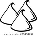 chocolate chips | Shutterstock .eps vector #493830454