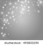 glow light effect. vector... | Shutterstock .eps vector #493833250