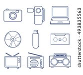 multimedia icons set   Shutterstock .eps vector #493835563