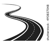 vector illustration of winding... | Shutterstock .eps vector #493837048