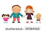 happy family. | Shutterstock .eps vector #49384060