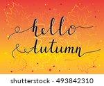"""hello autumn"" postcard design..."