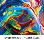 abstract acrylic texture. oil ...   Shutterstock . vector #493856608