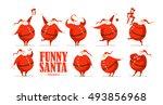 vector merry christmas  happy... | Shutterstock .eps vector #493856968