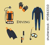 set for diving | Shutterstock .eps vector #493863310