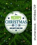 Christmas Pine Background With...