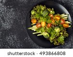 fresh vegetables salad  top... | Shutterstock . vector #493866808