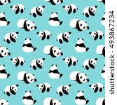 Panda Bear Vector Background....