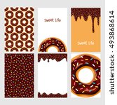 set of bright food cards. set... | Shutterstock .eps vector #493868614