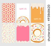 Set Of Bright Food Cards. Set...