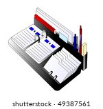calendar and handle on white... | Shutterstock . vector #49387561