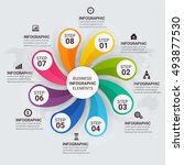 infographic circle diagram.... | Shutterstock .eps vector #493877530