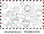 composition with variety of... | Shutterstock .eps vector #493881430